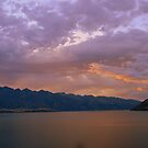 Lake Wakatipu, Queenstown, New Zealand at Sunset by Catherine Sherman