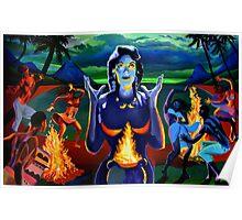 FIGURES IN LANDSCAPE #2 (Voodoo Woman) Poster