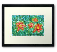 Spring Haiku Framed Print