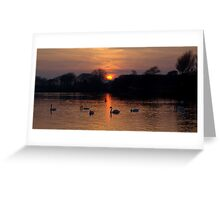 Sunset Lake Greeting Card