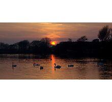 Sunset Lake Photographic Print