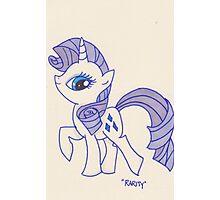 Notecard Ponies #5: Rarity Photographic Print
