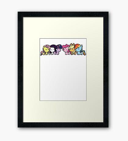 pony group Framed Print