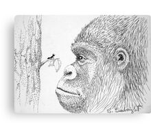 Gorilla and Ant Canvas Print