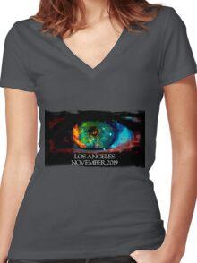 Blade Runner Eye Women's Fitted V-Neck T-Shirt