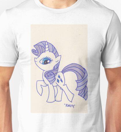 Notecard Ponies #5: Rarity Unisex T-Shirt