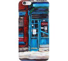 Montreal Memories Wilensky's Diner Doorway Best Original Canadian Paintings For Sale  iPhone Case/Skin