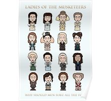 Ladies of The Musketeers (print/card) Poster