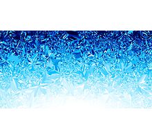 Blue Crystals Photographic Print