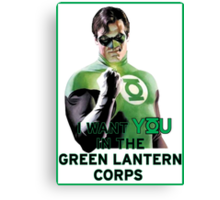 I Want You in the Green Lantern Corps  Canvas Print