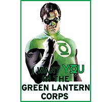 I Want You in the Green Lantern Corps  Photographic Print