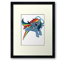 rainbow dash Framed Print