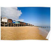Beach Huts at Walton Poster