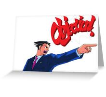 Objection! Ace Attorney Law Greeting Card