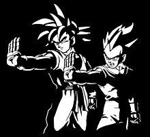 Goku x Vegeta by DOPEFLVR