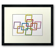 Coloured Rectangles Entangled Framed Print