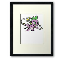 spike the dragon Framed Print