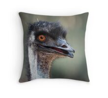 Who is looking at who Throw Pillow