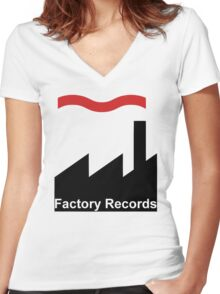 Factory Women's Fitted V-Neck T-Shirt
