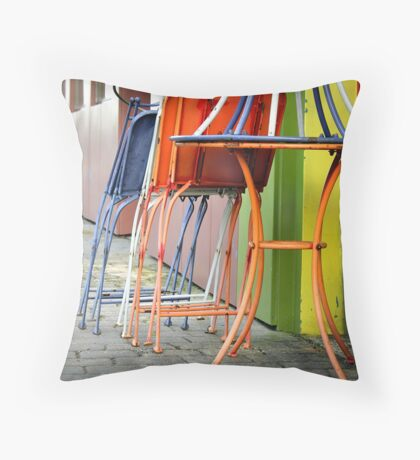 Colorful Dining Throw Pillow