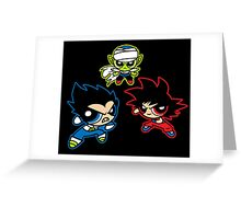 Powerpuff Z Greeting Card