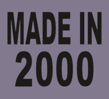 Made in 2000 Kids Clothes