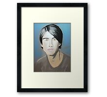 Jonas Brother in pastel Framed Print
