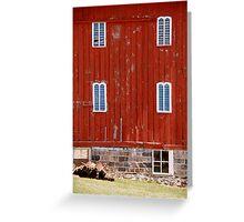 Fancy Red Barn Greeting Card
