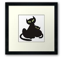 Kitten & Kitty Framed Print
