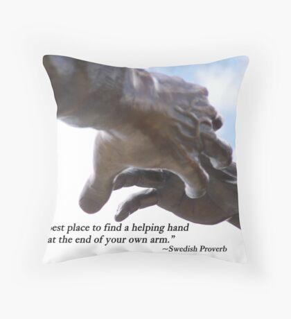 Helping Hands Throw Pillow