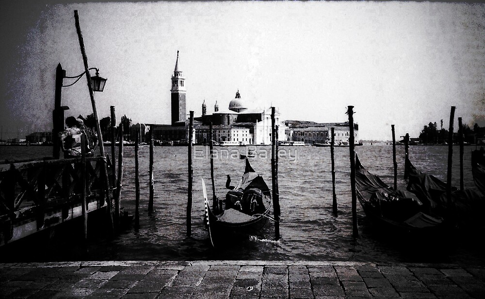 Gondolas in Venice by Elana Bailey