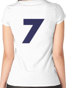 Number 7 Women's Fitted Scoop T-Shirt