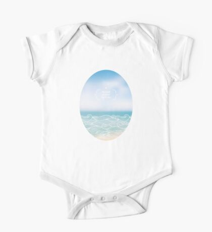 Water waves of sea and ocean One Piece - Short Sleeve