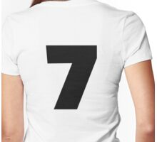 Number 7 seven Womens Fitted T-Shirt