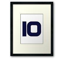 Number 10 ten Framed Print