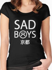 Yung Lean Sad Boys logo Women's Fitted Scoop T-Shirt