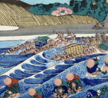 'Fuji From Kanaya on Tokaido' by Katsushika Hokusai (Reproduction) Sticker