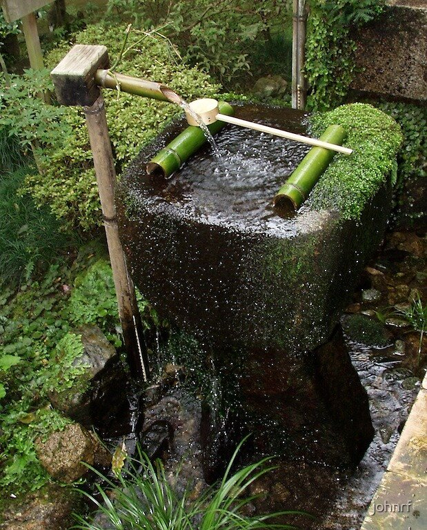 Japanese traditional entrance decoration by johnrf for Japanese garden water feature