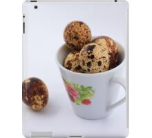 The quail eggs inside the white cup iPad Case/Skin