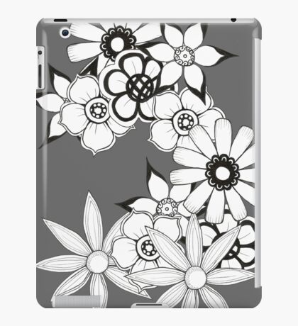 Ink flower patter  iPad Case/Skin