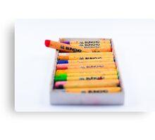 The crayon pencil    Canvas Print