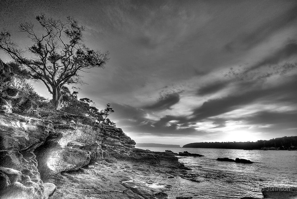 Alone - Balmoral Beach - The HDR Experience by Philip Johnson