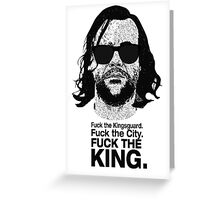 The Hound Vs The Crown Greeting Card