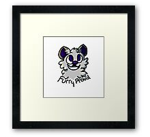 Be Yourself and Be Furry Proud Framed Print