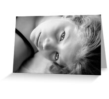 Perrin in black and white Greeting Card