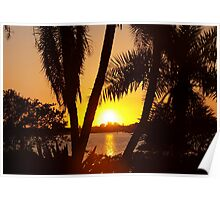 Big and bold sunset Poster