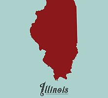 Illinois - States of the Union by Michael Bowman