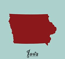 Iowa - States of the Union by Michael Bowman