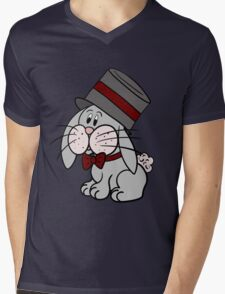 Magician Rabbit Mens V-Neck T-Shirt