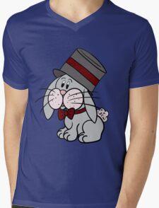 Magician Rabbit Mens V-Neck T-Shirt